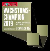 IMP Auszeichnung von Focus: Wachstumschampion 2019